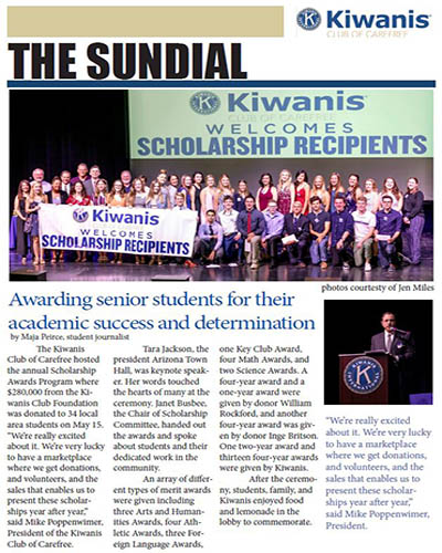 newsletter for kiwanis club of carefree